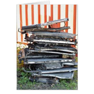 Pile of Radiators Greeting Card