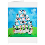 Pile of sheep greeting cards