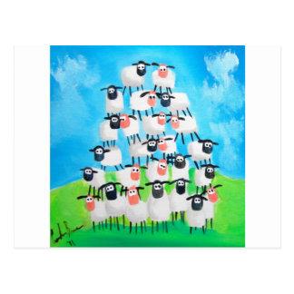 Pile of sheep postcard