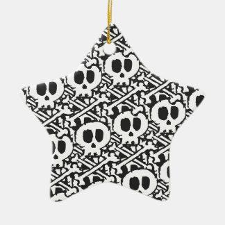 Pile of Skulls Ceramic Star Ornament