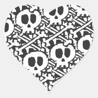 Pile of Skulls Heart Sticker