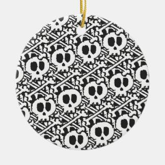 Pile of Skulls Round Ceramic Ornament