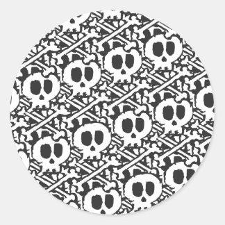 Pile of Skulls Round Sticker