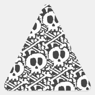 Pile of Skulls Triangle Sticker