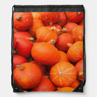 Pile of small pumpkins, Germany Drawstring Bag