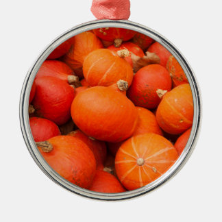 Pile of small pumpkins, Germany Silver-Colored Round Ornament