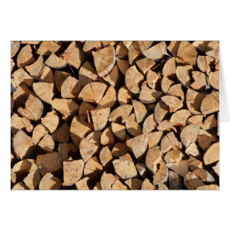 Pile Of Wood Card