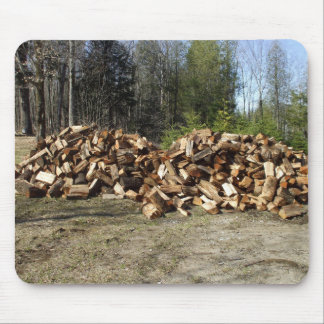 Pile of Wood. Mouse Pad