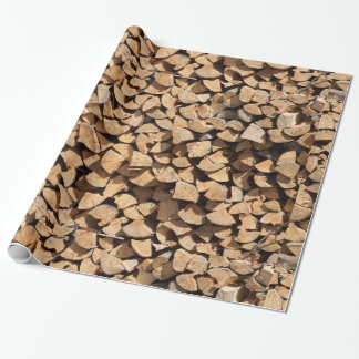 Pile Of Wood Wrapping Paper