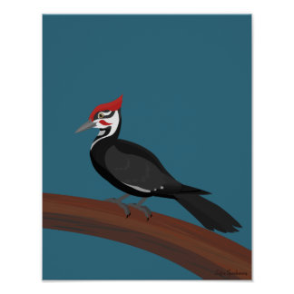 Pileated Woodpecker 11x14 Archival Matte Poster