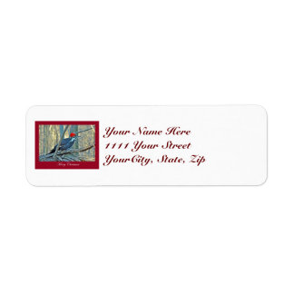 Pileated Woodpecker Merry Christmas Items Return Address Label