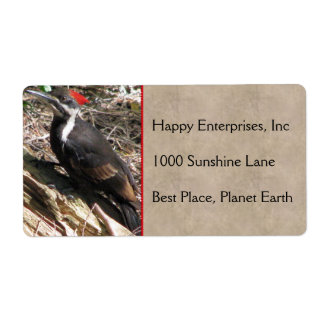 Pileated Woodpecker Shipping Label