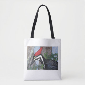 """""""Pileated Woodpecker"""" Tote Bag"""