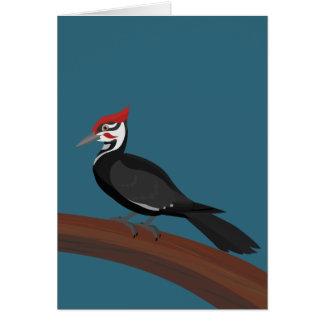 Pileated Woodpecker Vector Art Blank Card