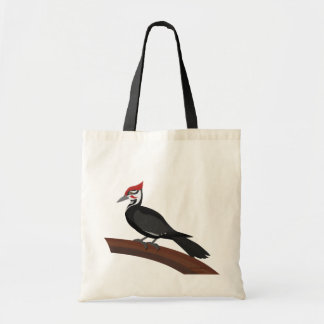 Pileated Woodpecker Vector Art Budget Tote Bag