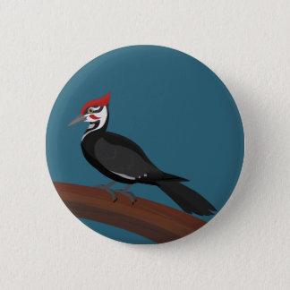 Pileated Woodpecker Vector Art Button
