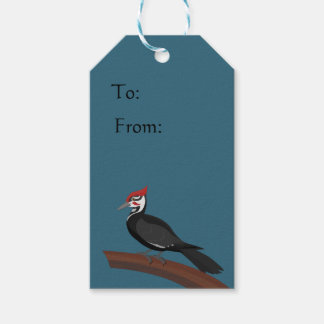 Pileated Woodpecker Vector Art Gift Tag