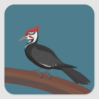 Pileated Woodpecker Vector Art Stickers