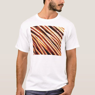 piles of copper pipes T-Shirt