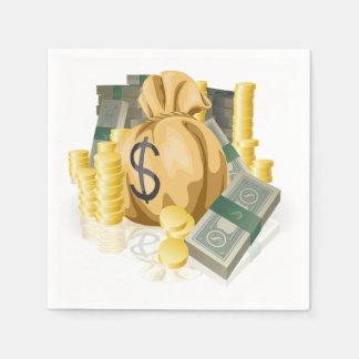 Piles of Money Paper Napkins