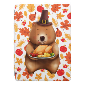 pilgram bear with festive background iPad pro cover