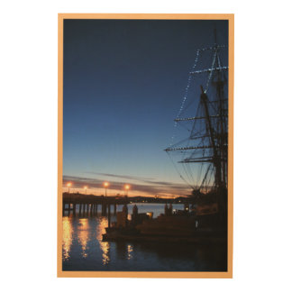 Pilgrim at dawn photo inspiration wood print