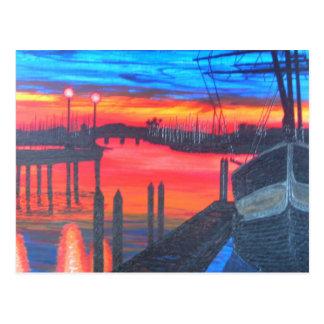 Pilgrim at dawn postcard