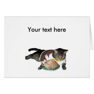 Pilgrim Cat Customizable Card