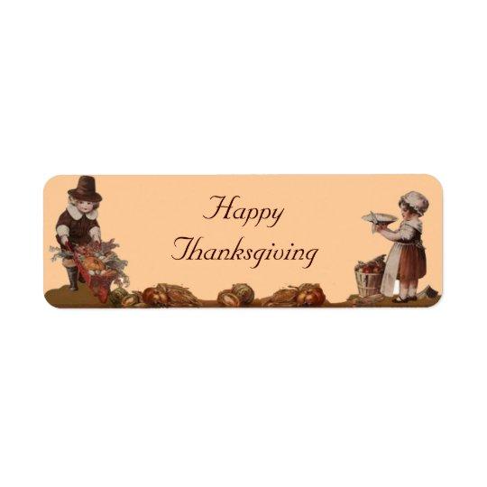 Pilgrim Children Happy Thanksgiving