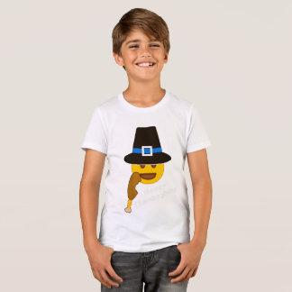 Pilgrim Emoji Turkey Leg Thanksgiving Shirt