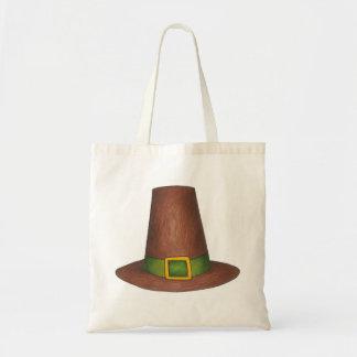Pilgrim Hat Happy Thanksgiving Tote Bag