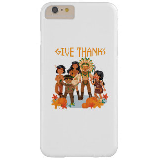 Pilgrim Indian Pumpkin Give Thanks Thanksgiving Barely There iPhone 6 Plus Case