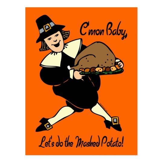 Pilgrim Mashed Potato Postcard