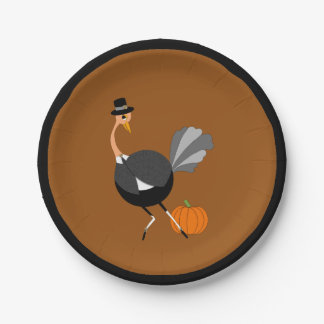Pilgrim Ostrich for November Feast Paper Plate