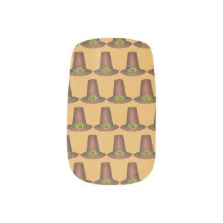 Pilgrim Puritan Hat Happy Thanksgiving Autumn Fall Minx Nail Art