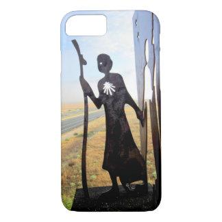 Pilgrim Woman monument on the Camino de Santiago Case-Mate iPhone Case