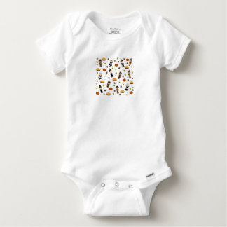 Pilgrims and Indians pattern - Thanksgiving Baby Onesie