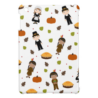 Pilgrims and Indians pattern - Thanksgiving Case For The iPad Mini