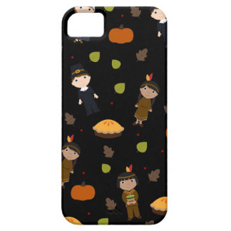 Pilgrims and Indians pattern - Thanksgiving Case For The iPhone 5