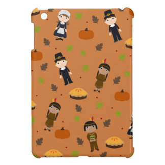 Pilgrims and Indians pattern - Thanksgiving iPad Mini Cover