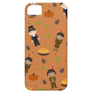 Pilgrims and Indians pattern - Thanksgiving iPhone 5 Case