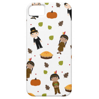 Pilgrims and Indians pattern - Thanksgiving iPhone 5 Cover