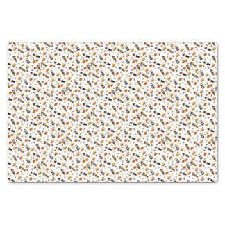 Pilgrims and Indians pattern - Thanksgiving Tissue Paper
