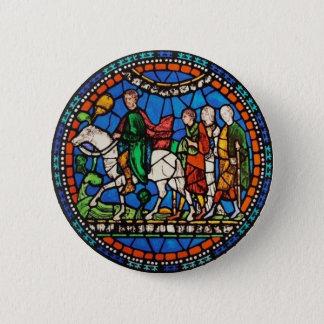 Pilgrims or Canterbury 2 Inch Round Button