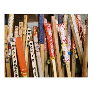 Pilgrims' Walking Sticks of Japan Postcard