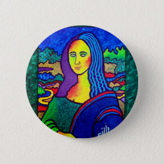 Piliero Mona Lisa 2 Inch Round Button