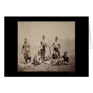 Piling Arms Crimean War 1855 Card