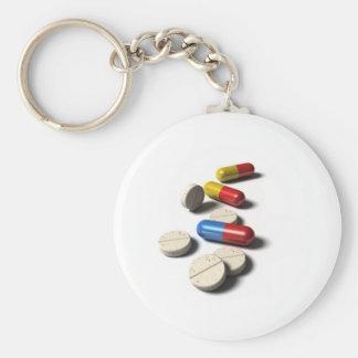 Pill Basic Round Button Keychain