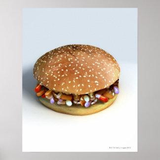 Pill Burger Poster