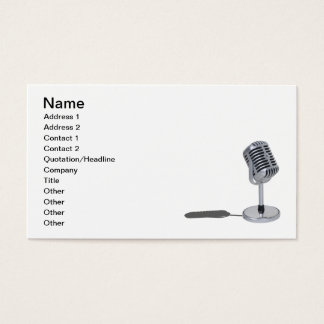 Pill Microphone Business Card